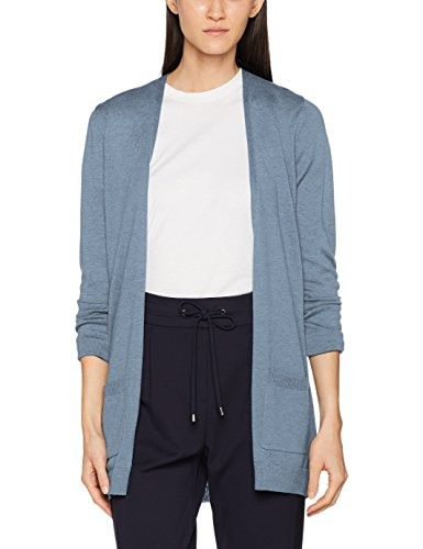 ESPRIT Damen Strickjacke 087EE1I025, Blau (Grey Blue 5 424), Medium