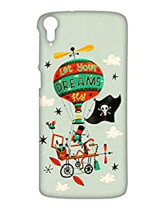 Crackndeal Back Cover for HTC Desire 828