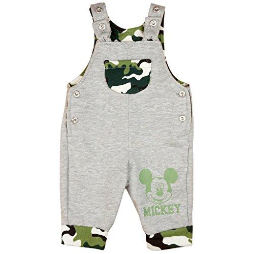 Jungen BABY-HOSE / LATZ-HOSE Mickey Mouse GEFÜTTERT mit Camouflage-Muster, GRÖSSE 62, 68, 74, 80, 86, SPIEL-HOSE mit Knöpfen und Tasche, als...