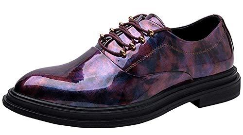 Herren Derby Schuhe Persönlichkeit Business Schuhe Kleid Schuhe Mode Tuxedo Oxford Kleid Schuhe (Farbe : Lila, Größe : 44EU)