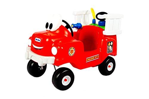 Little Tikes - Camión infantil de bomberos con depósito y chorro de agua