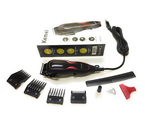 Kemei KM-1027 Professional Electric Hair Trimmer Clipper Heavy Duty Gromming Set for Men, Women (MutliColor) by EzLife