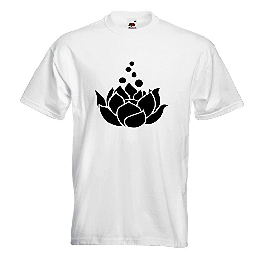 KIWISTAR - Lotosblumen - Lotusblüte T-Shirt in 15 verschiedenen Farben - Herren Funshirt bedruckt Design Sprüche Spruch Motive Oberteil Baumwolle Print Größe S M L XL XXL Weiß