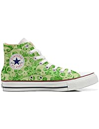 Converse All Star Customized - Zapatos Personalizados (Producto Artesano) Green Skull