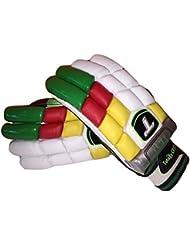 Totalmente zurdos de críquet bateador de críquet guantes de hombre tamaño zurdos prueba