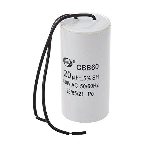 SODIAL (R) CBB60 20uF Draht Bleizylinder Motor Run SH Kondensator AC 450V -