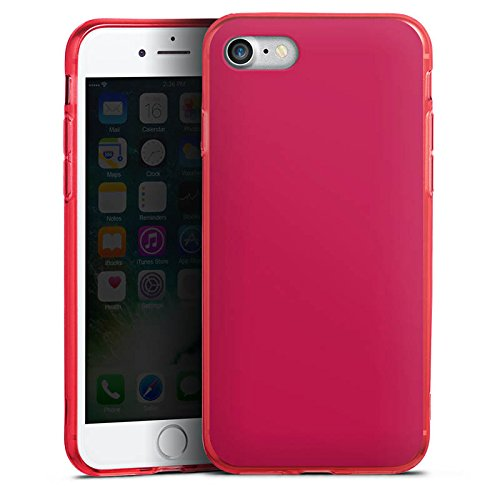 Apple iPhone 8 Silikon Hülle Case Schutzhülle Bordeaux Rot Red Silikon Colour Case rot