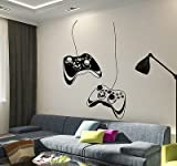 Vinyl Wall Decal Joystick Video Game Play Room Gaming Boys Stickers VS652 by V-studios