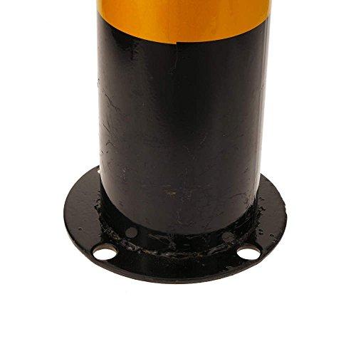 PrimeMatik - Pilona bolardo de acero con base clavada 114x500mm 4-PACK fa62a6512aef