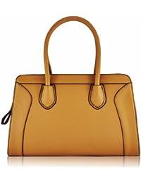 Sac à main dames KCMODE concepteur beige brun accrocheur Femmes simili-cuir Grab