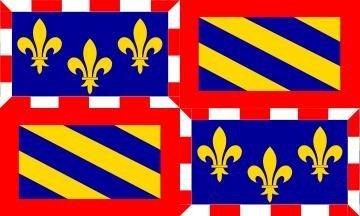 *** PROMOTION *** Drapeau Bourgogne - 150 x 90 cm (Uniquement chez le vendeur PLANETE SUPPORTER = 100% conforme à l'image)