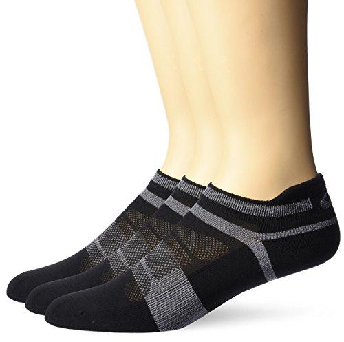 Kissen Tab Socke (ASICS Schnelle Lyte Kissen Single Tab Laufen socken (3Pack) XL schwarz/dunkelgrau)