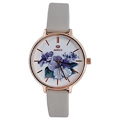 Reloj Marea Señora Dorado Correa Cuero Gris