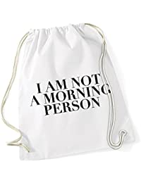 I Am Not A Morning Person Borsa De Gym Bianco Certified Freak 311356bb8f3