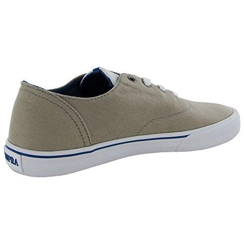 Supra - - Herren Wrap Schuhe Cobblestone/Dark Blue/Wht