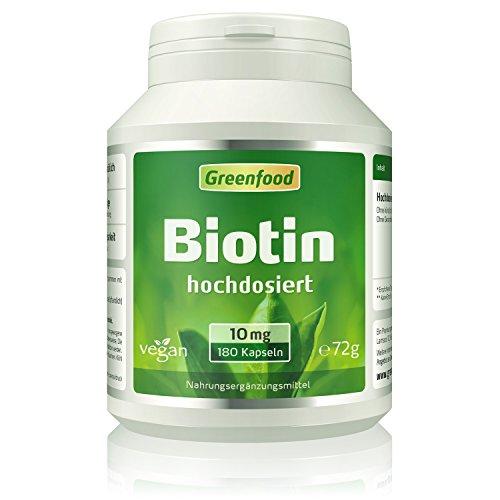 10 mg, hochdosiert, 120 Vegi-Kapseln - das Beauty-Vitamin für schöne Haut und kräftige Haare. OHNE künstliche Zusätze. Ohne Gentechnik. Vegan. ()