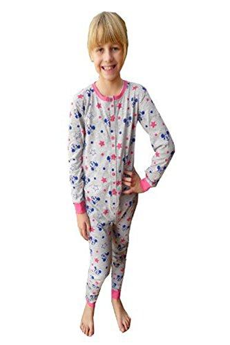 Disney minnie ragazze bambine grigio all in uno pigiama tutina intera - grigio minnie mouse, 5-6 anni