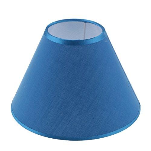 Sharplace 2 Stück Lampenschirm aus Stoff, 9 Farben - Blau - Blaue Stück Stoff
