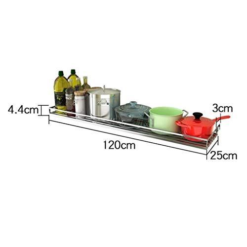 JUANOZ Lagerregal Silber Küchenregal Wandmontage Durchschlagsfreier Abfluss für Haushaltsgeschirr Ablagefläche aus Edelstahl (Size : XXL)