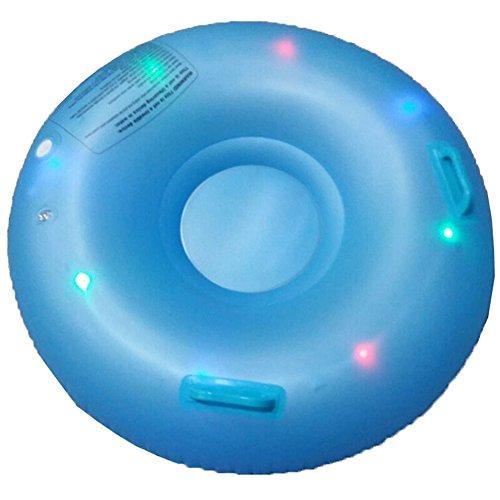 TwinkBling LED aufblasbar Snow Tube für Kinder mit Knopf Zellen & Pumpe (Aufblasbarer Schlitten Für Kinder)