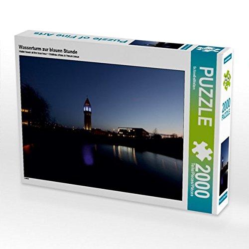 Wasserturm zur blauen Stunde 2000 Teile Puzzle quer