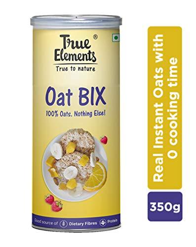 True Elements Oat Bix with 100% Rolled Oats, Wholegrain Breakfast 350gm