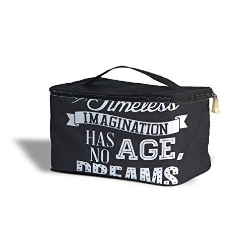 Queen of Cases Laughter is Timeless Noir Citation de Walt Disney cosmétiques Maquillage étui de Rangement – Fermeture éclair Sac de Voyage, Noir, One Size Cosmetics Storage Case