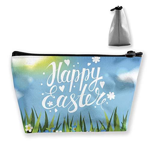 en Ostern im Gras-Make-up sackt tragbare Reißverschluss-Kosmetik-Tasche EIN ()