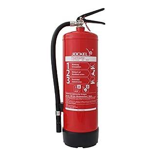 Jockel Feuerlöscher S6LJM 6615000 Bio34 plus Standard-Dauerdruck-Feuerlöscher, 6 l Schaum