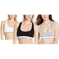 Calvin Klein . Women's 3 Pack Bra Bustier. Cotton Bralette