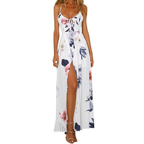 new style b3108 2fce2 ✿Vestito Donna Elegante✿,Kword Donne Sexy Senza Schienale Abito -Boho  Stampa Vestito Senza Maniche Abiti Lunghe Maxi Vestiti Estivo Spiaggia  Vestito ...