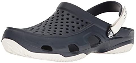 crocs Herren Swiftwaterdeckclogm Clogs, Blau (Navy/White), 45-46 EU
