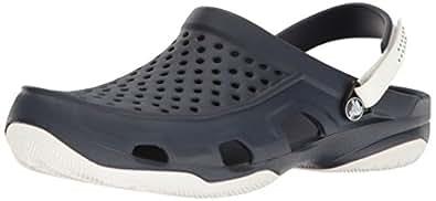 crocs Men's Swiftwater Deck Clog M Navy Clogs-M10 (203981-462)