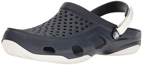 Crocs Swiftwater Deck Clog Men, Herren Clogs, Blau (Navy/White), 42/43 EU