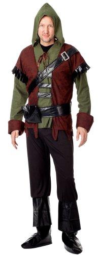 spass42 4 tlg. Herren Kostüm Robin Hood Mittelalter König der Diebe Wald Räuber Jäger Bogenschütze Karneval Groesse: S/M (Peter-pan-kostüme Männer Für)
