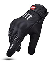 MADBIKE Guantes de moto guantes de pantalla táctil para moto, color palm without hole, tamaño medium
