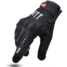 Madbike - Guantes para moto para pantalla táctil, color palm without hole, tamaño XL