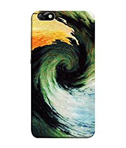 FUSON Designer Back Case Cover for Huawei Honor 4X :: Huawei Glory Play 4X (Galaxy Universe Lava Icy Water Green Land )