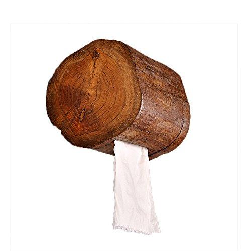 FHLYCF europäischen stil antiker handgefertigten holz papier handtuchhalter, wc - papier - box, wand hängen, kreative retro - papier - box, klopapier - box, toilettenpapier halter