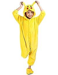 Moollyfox Pijamas Ropa de Dormir Disfraz de Animal Cosplay Para Niños Pikachu 105