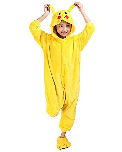 Moollyfox Pijamas Ropa de Dormir Disfraz de Animal Cosplay Para Niños Pikachu 125