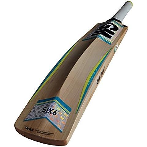 Gunn y Moore Six6 F4,5 DXM 909 TTNOW sauce Inglés bate de Cricket - Multi-color, mango corto