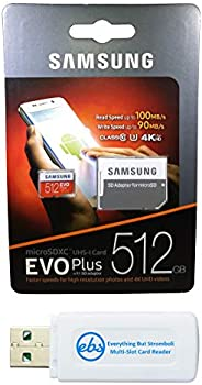 Samsung 512GB Evo Plus Micro SDXC Memory Card Class 10 (MB-MC512G) Works with Samsung Galaxy J7 (2018), J7 Sta