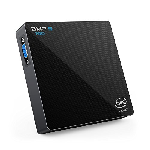 Windows 10 Mini PC - Bqeel BMP5 PRO lautloser Mini Computer, Intel Apollo Lake N3450 Prozessor, 4GB Ram + 64GB Rom, 1000M Ethernet, Dual-Band WiFi, Bluetooth 4.0 und HDMI & VGA-Videoausgang (4K) (4 Gig Sd-karte, Mini)