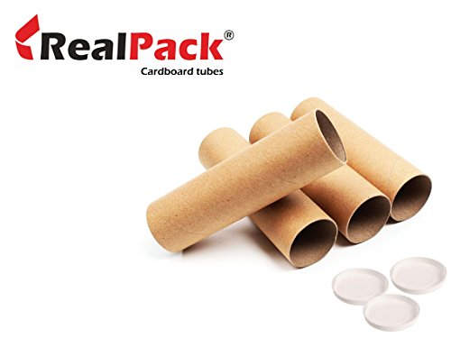 REALPACK® 1 x Cardboard Postal Tube with Plastic End for sale  Delivered anywhere in UK