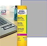 AVERY Zweckform L6013-20 Typenschild-Etiketten (A4, 20 Stück, 210 x 297 mm, wetterfest, 20 Blatt) silber