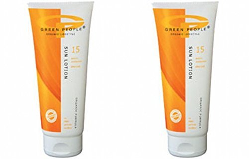 (2er BUNDLE) | Green People Sun Lotion SPF15 with suntan accelerator (200ml) | 200ml - Green People - Green People Sun Care