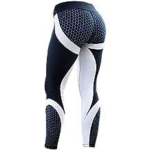 Mujer Leggins Pantalones Deportivos Elásticos Estampados Malla Leggings Deporte para Running Fitness Yoga