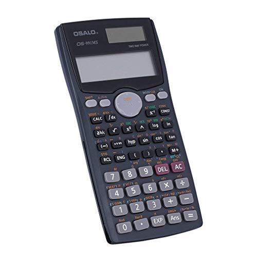 Wissenschaftlicher Taschenrechner Mini-Rechner-Zähler 240 Funktionen 2-Linien-LCD-Display Business Office Schüler Sat-Test Berechnen Sie Batterieleistung