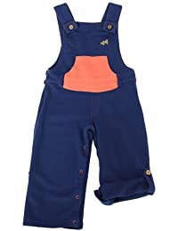 Green Nippers Baby Boy's Organic Cotton Dungarees with Roll Up Legs Dungarees